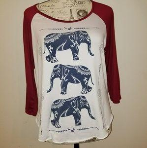 Tops - Rue21 elephant print t shirt